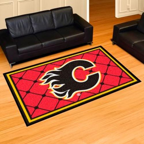 Calgary Flames 5x8 Rug