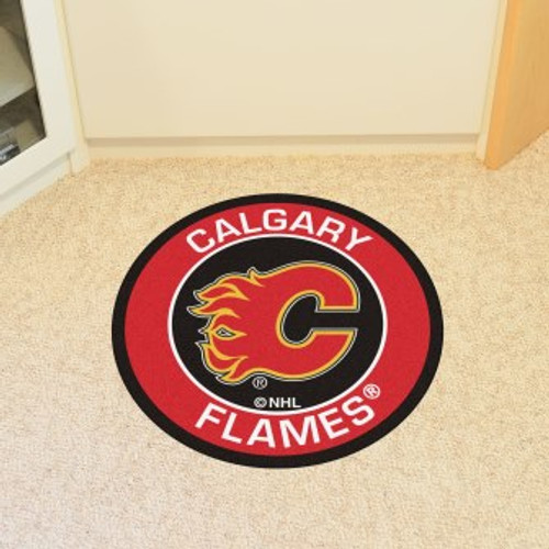 Calgary Flames Roundel Mat