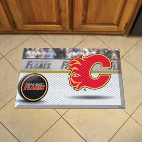 Calgary Flames Hockey Scraper Mat