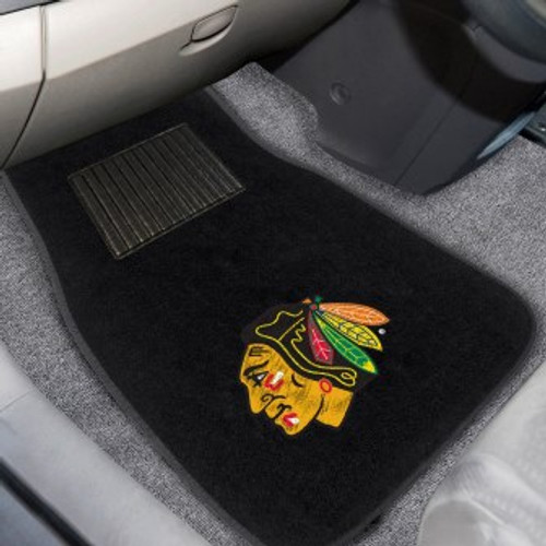 Chicago Blackhawks 2-pc Embroidered Car Mat Set