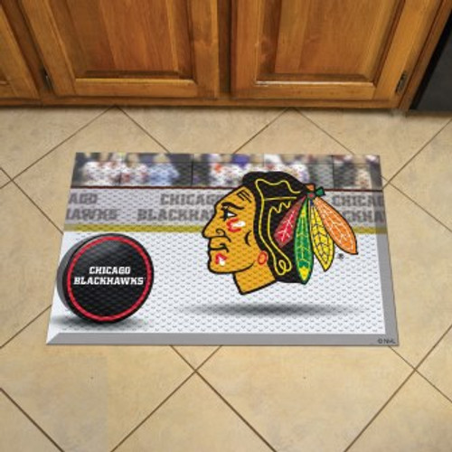 Chicago Blackhawks Hockey Scraper Mat