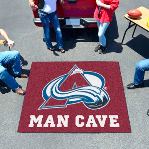Colorado Avalanche Man Cave Tailgater Rug