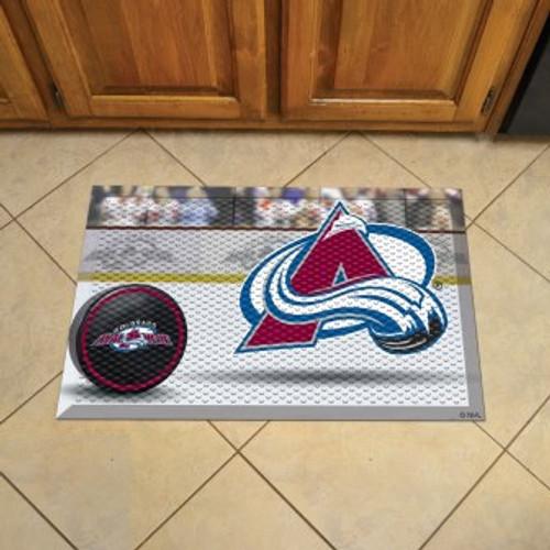 Colorado Avalanche Hockey Scraper Mat