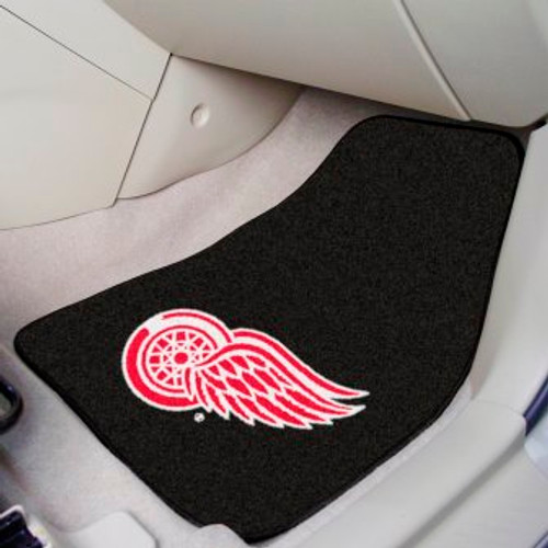 Detroit Red Wings 2-pc Black Carpet Car Mat Set