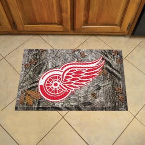 Detroit Red Wings Camo Scraper Mat