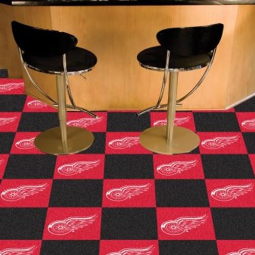 Detroit Red Wings Team Carpet Tiles