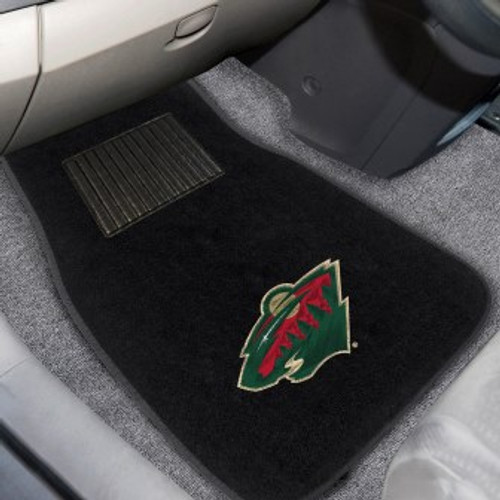 Minnesota Wild 2-pc Embroidered Car Mat Set