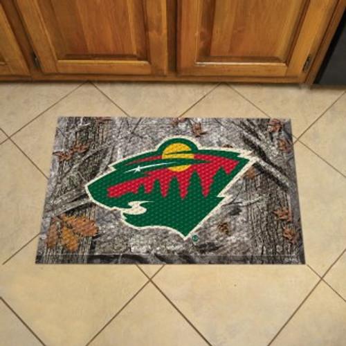 Minnesota Wild Camo Scraper Mat