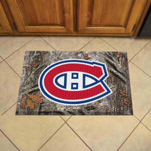 Montreal Canadiens Camo Scraper Mat