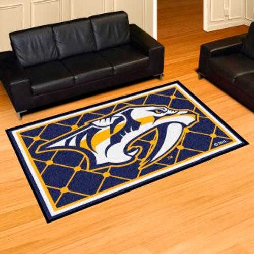Nashville Predators 5x8 Rug-Blue