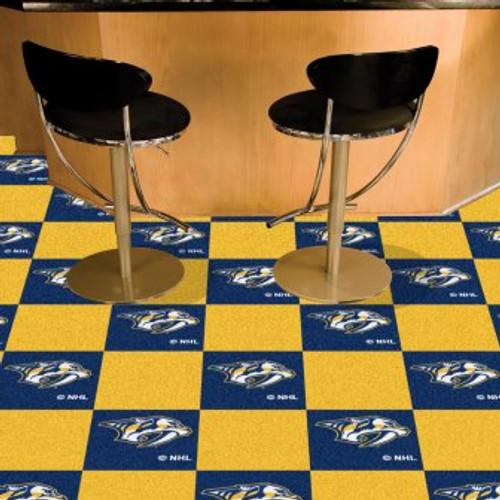 Nashville Predators Team Carpet Tiles-Logo On Blue