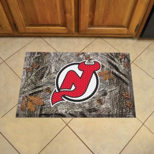 New Jersey Devils Camo Scraper Mat