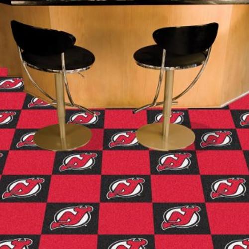 New Jersey Devils Team Carpet Tiles