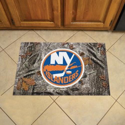 New York Islanders Camo Scraper Mat