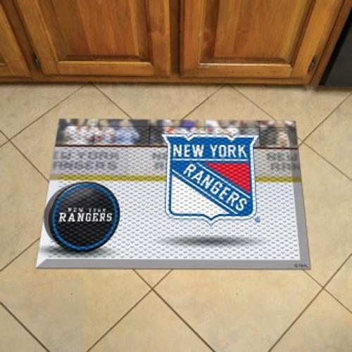 New York Rangers Hockey Scraper Mat