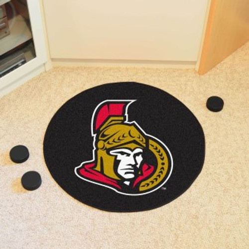 Ottawa Senators Puck Mat-Black