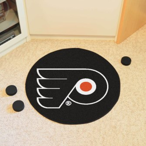 Philadelphia Flyers Puck Mat-Black