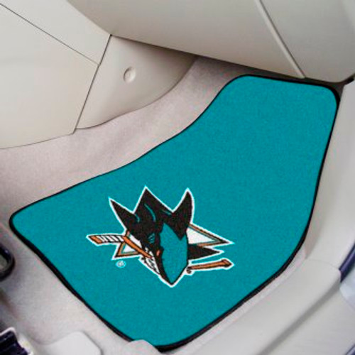 San Jose Sharks 2-pc Carpet Car Mat Set