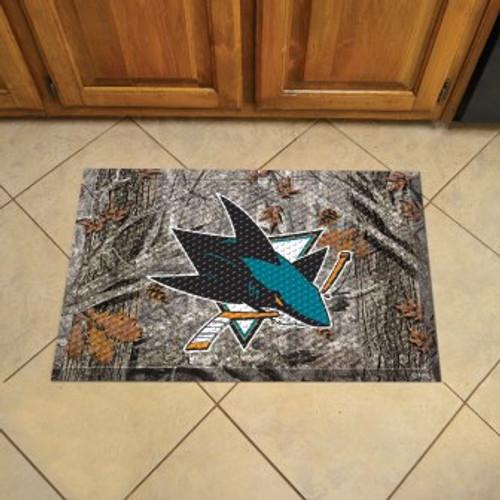 San Jose Sharks Camo Scraper Mat