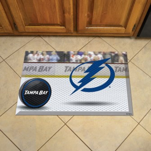 Tampa Bay Lightning Hockey Scraper Mat