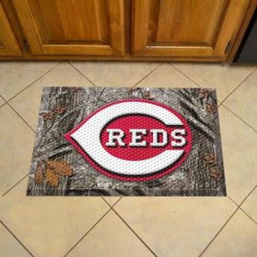 Cincinnati Reds Camo Scraper Mat
