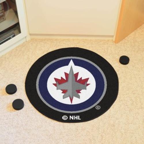 Winnipeg Jets Puck Mat-Black