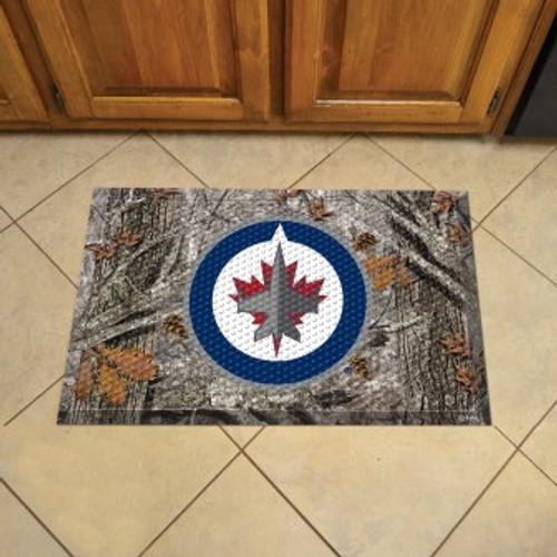 Winnipeg Jets Camo Scraper Mat