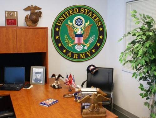 U.S. Army Round Mat