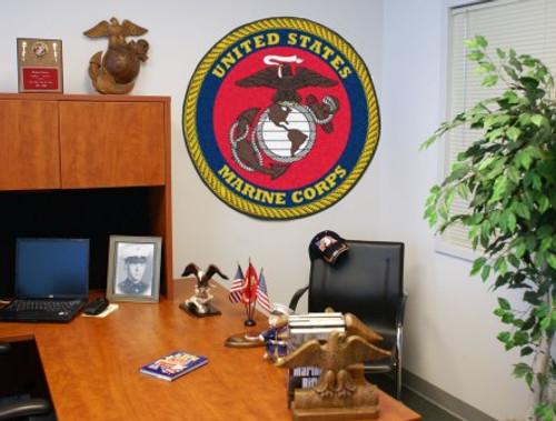 U.S. Marines Round Mat