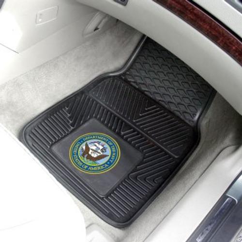 Navy 2-pc Vinyl Car Mat Set