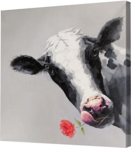 Betsy The Cow Canvas Art