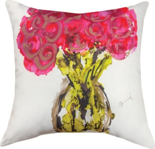 Pink In Vase Climaweave Pillow
