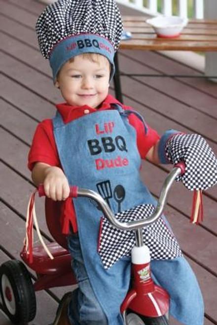 Izzy Busy Lil BBQ Dude 3 Pc Apron Set