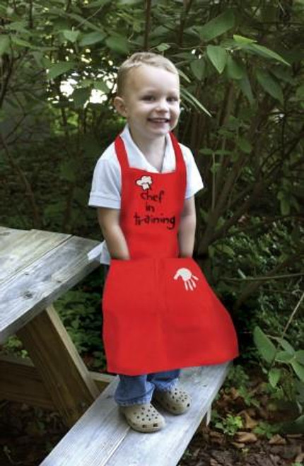 Izzy Red Chef In Training Apron