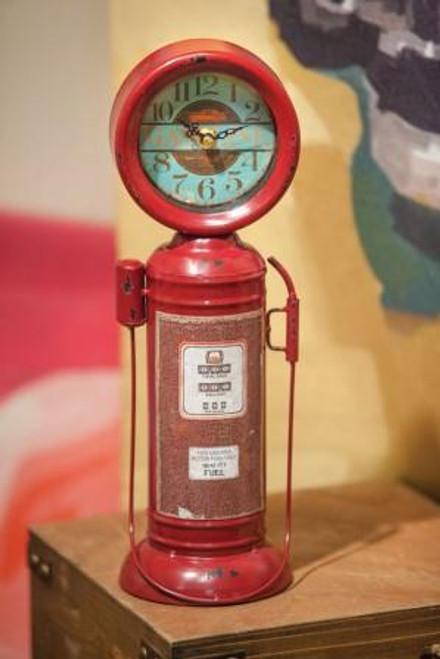 Retro Gas Pump Table Clock