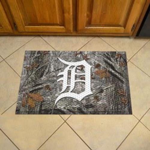 Detroit Tigers Camo Scraper Mat