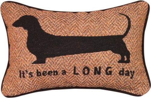 Its Been A Long Day Dachshund Pillow