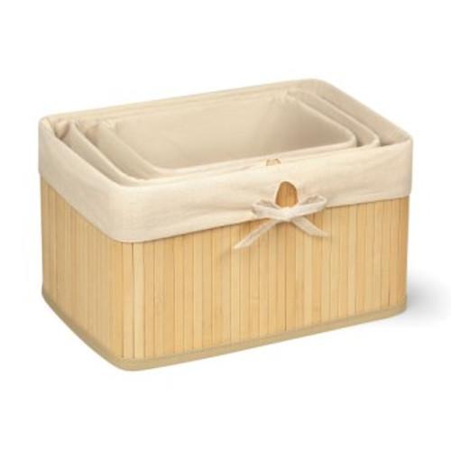 Claremont Bamboo Natural Basket Set