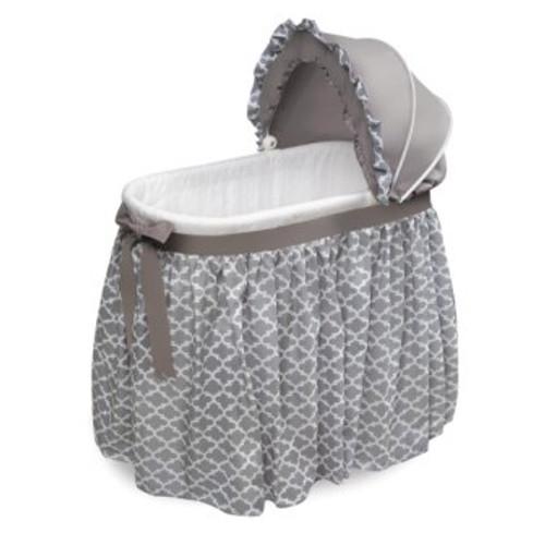 Wishes Gray Lantern Bedding Oval Bassinet