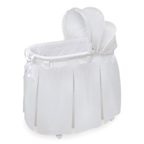 Wishes White Bedding Oval Bassinet