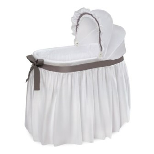 Wishes White Gray Oval Bedding Bassinet