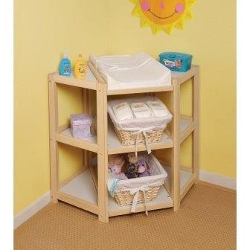 Diaper Corner Baby Changing Table-Natural