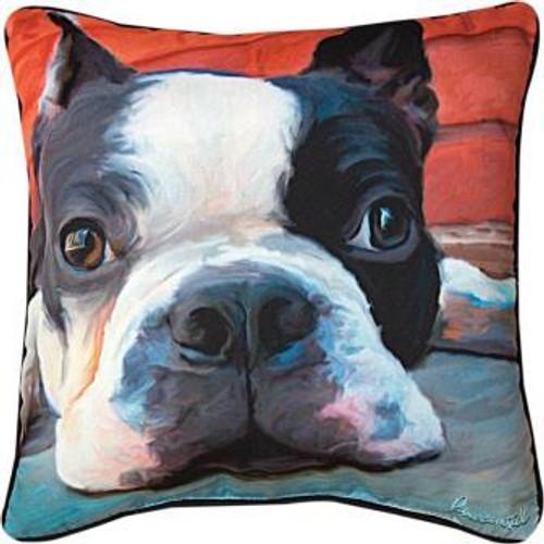 Moxley Boston Terrier Pillow