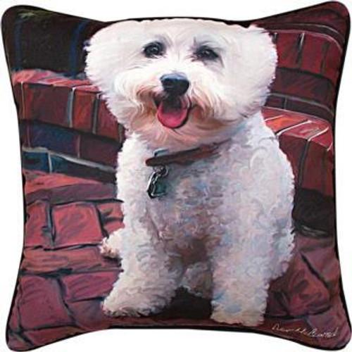 Glam Dog Bichon Pillow