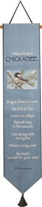 Advice From A Chickadee Bell Pull