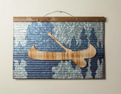 Canoe Metal Sign