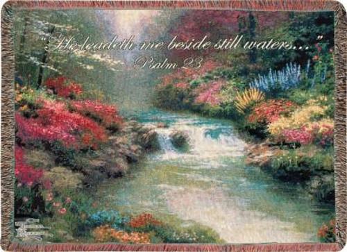 Thomas Kinkade Beside Still Waters Tapestry Throw
