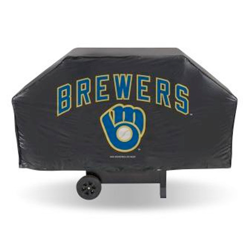 Milwaukee Brewers Black Economy Grill Cover