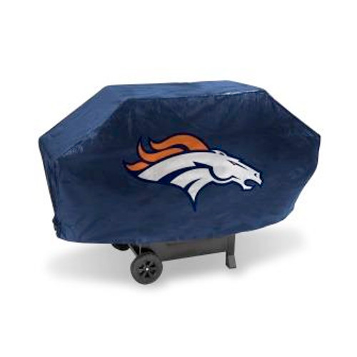 Denver Broncos Navy Deluxe Grill Cover