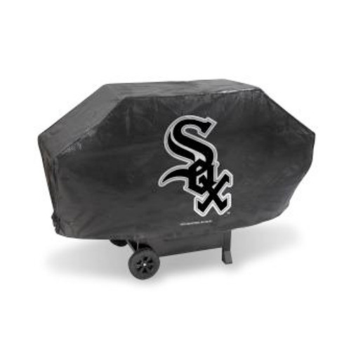 Chicago White Sox Black Deluxe Grill Cover